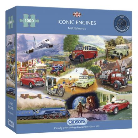 Iconic Engines by  Mat Edwards 1000 Piece Gibsons Jigsaw